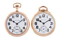 Lot of 2: Hamilton Yellow Gold Filled Pocket Watches.