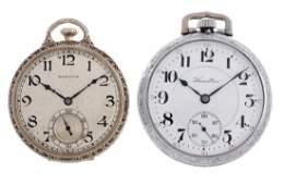 Lot of 2 Hamilton Gold Pocket Watches