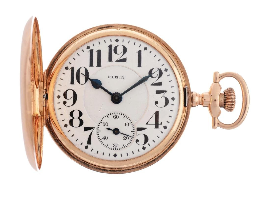 Elgin Grade 242 14K Rose Gold Pocket Watch.