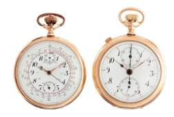Lot of 2: Swiss Yellow Gold Filled Pocket Watches.
