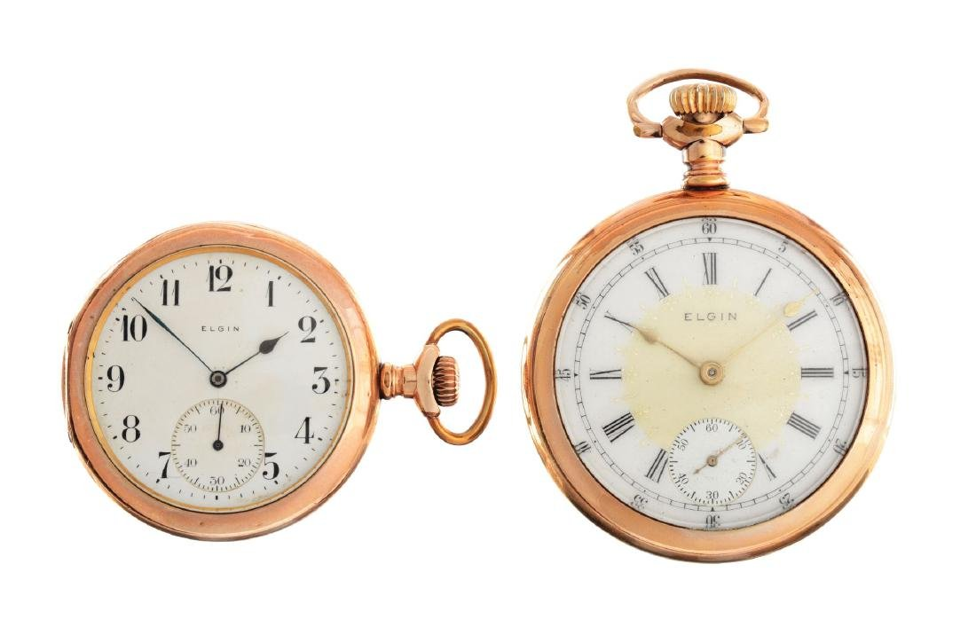 Lot of 2: Yellow Gold Filled Pocket Watches.