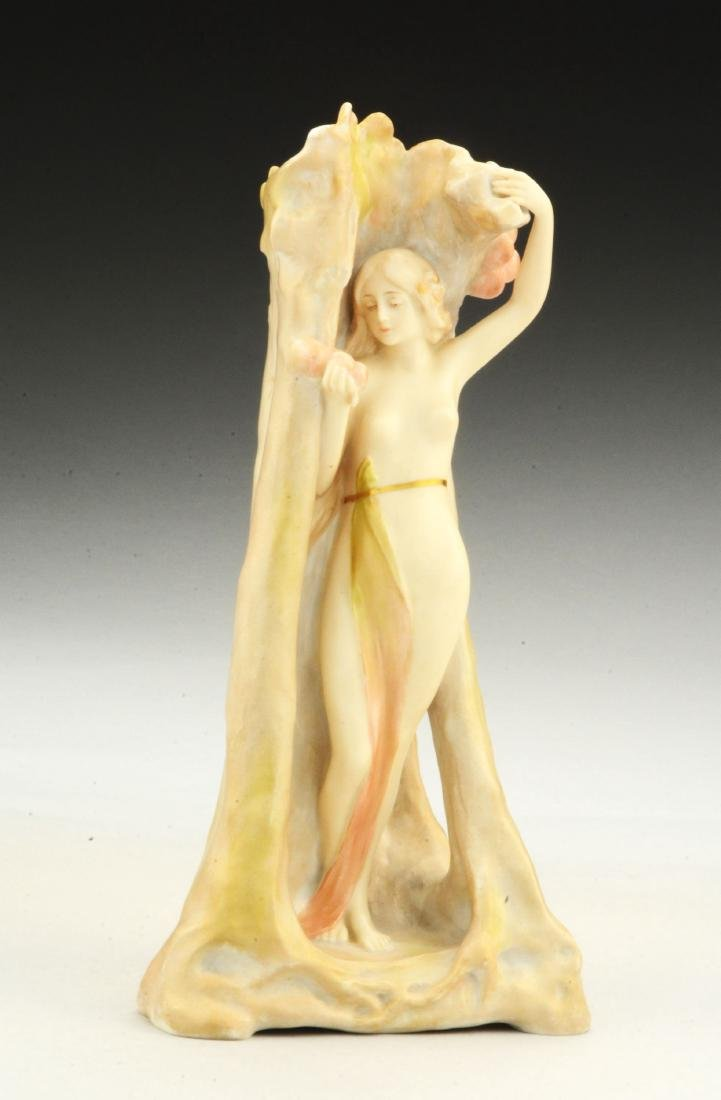 Ernst Wahliss Porcelain Figure of a Young Woman Picking