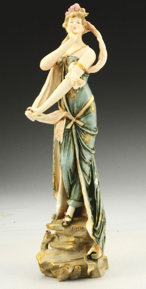 Ernst Wahliss Porcelain Figure of a Woman.