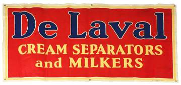 De Laval Cream Separators And Milkers Cloth Banner.