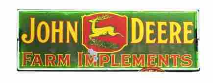 John Deere Farm Implements Porcelain Sign w/ Neon