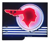 Pontiac Full Feather Porcelain Neon Sign.