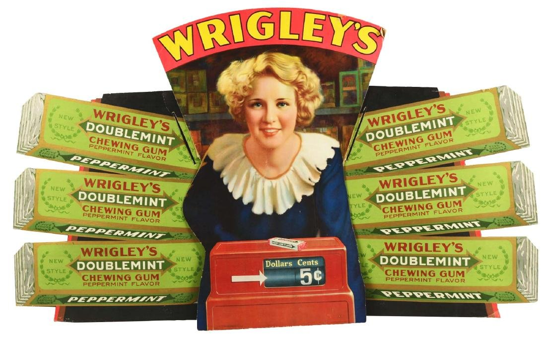 Wrigley's Double Mint Gum Cardboard Advertising