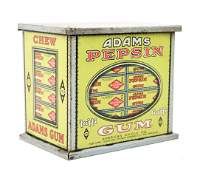 Adams Chewing Gum Tin With Labels And Gum Sticks