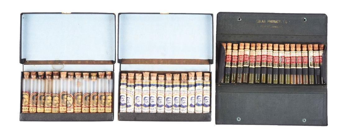 Lot of 3: Oil & Spice Salesman Sample Kits .