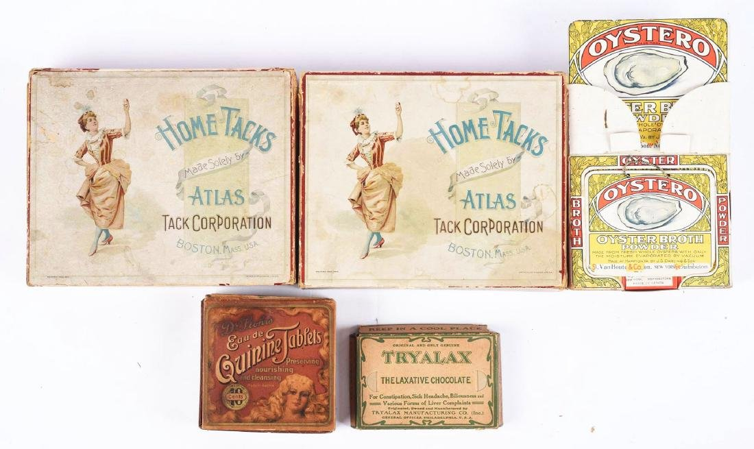 Lot of 5: Old Store Stock Product Displays.