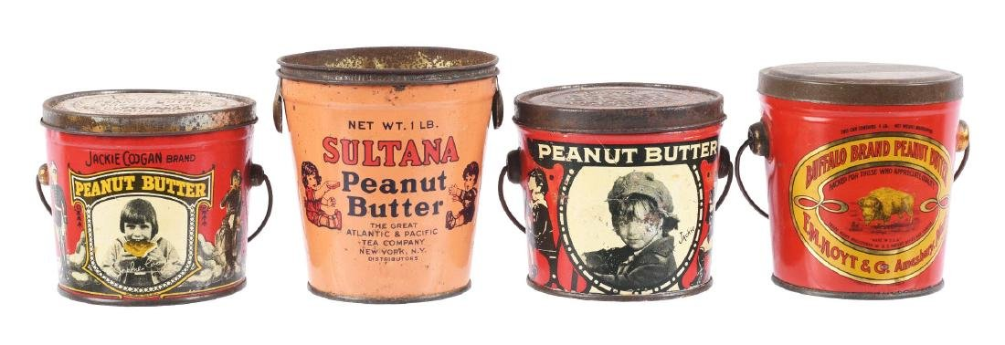 Lot of 4: Peanut Butter Tins.