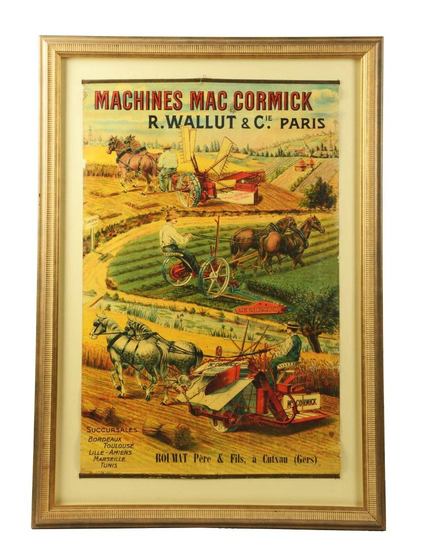 Large Machines McCormick Farm Implements Poster.
