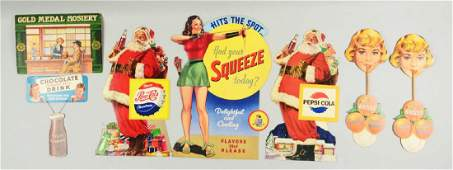 Lot of 7 Food  Beverage Related Advertising Signs