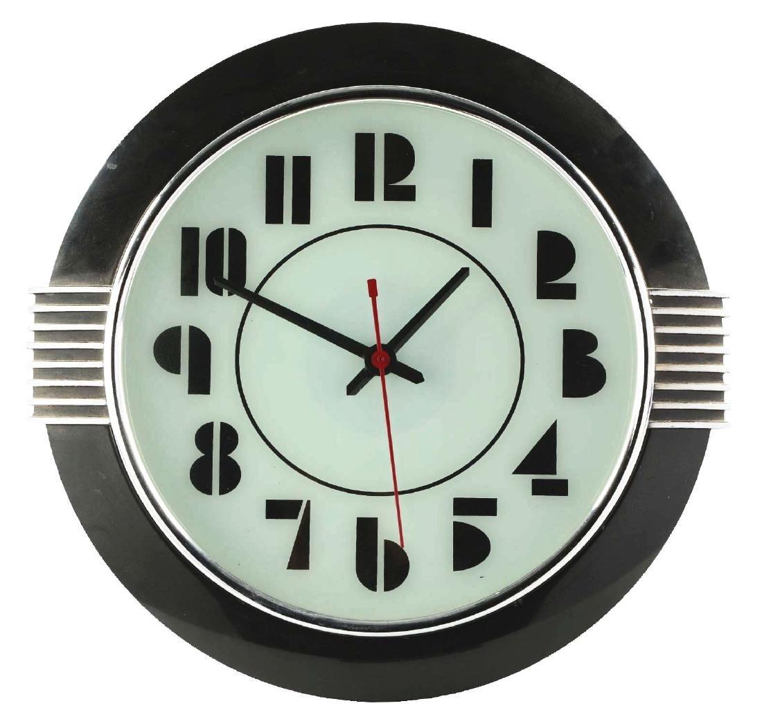 Black Art Deco Clock.