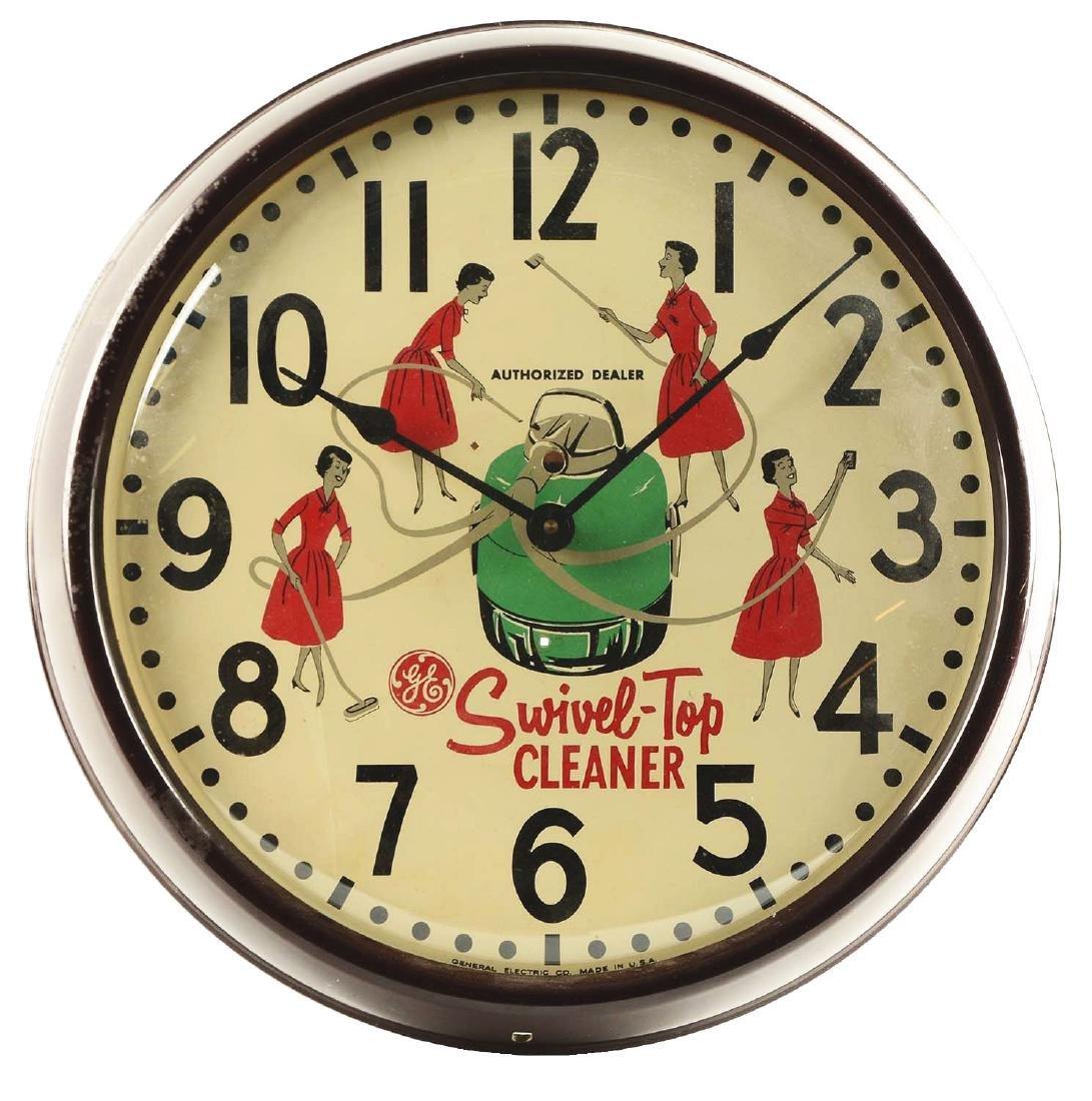 General Electric Swivel-Top Cleaner Advertising Clock.