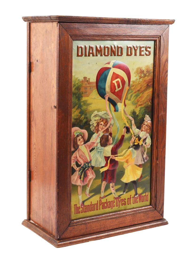 Diamond Dyes Wooden display Cabinet.