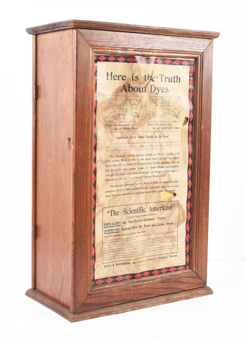 Diamond Dyes Wooden display Cabinet. - 3