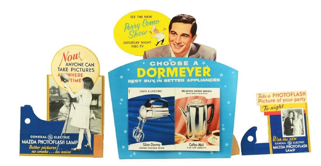 Lot of 2: General Electric & Dormeyer Advertising