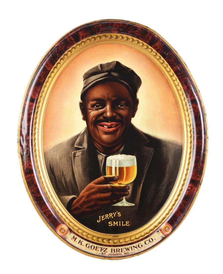 "M.K. Goetz Brewing Co. ""Jerry's Smile"" Self-Framed Tin"