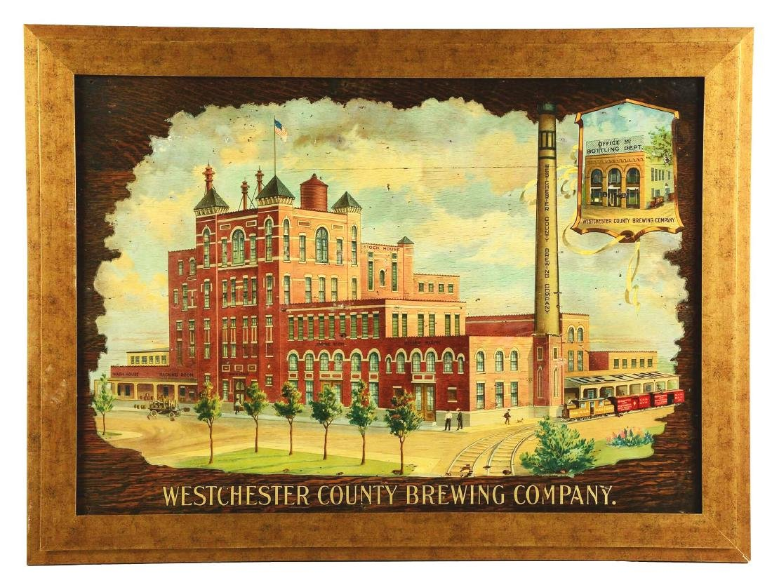 Westchester County Brewing Co. Advertising Sign.