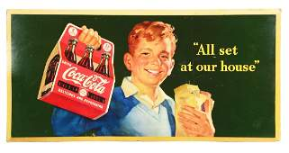 Large CocaCola Cardboard Six Pack Advertising Sign