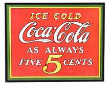 Lot of 4 CocaCola Advertising Signs