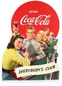 1948 CocaCola Diecut Cardboard Advertising Sign
