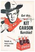 Kit Carson CocaCola Cardboard Advertising Sign