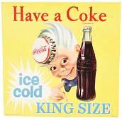 Coca-Cola Sprite Boy Cardboard Advertising Sign.
