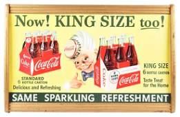 Coca-Cola King Size Sprite Boy Cardboard Advertising