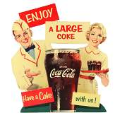Cardboard Coca-Cola Stand Up Display Sign.