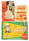 Lot of 3 CocaCola Advertising Posters  Signs
