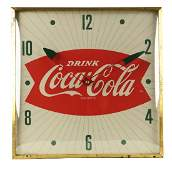 Drink Coca-Cola Advertising Clock.