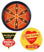Lot of 3 Cola  Dairy Advertising Pieces