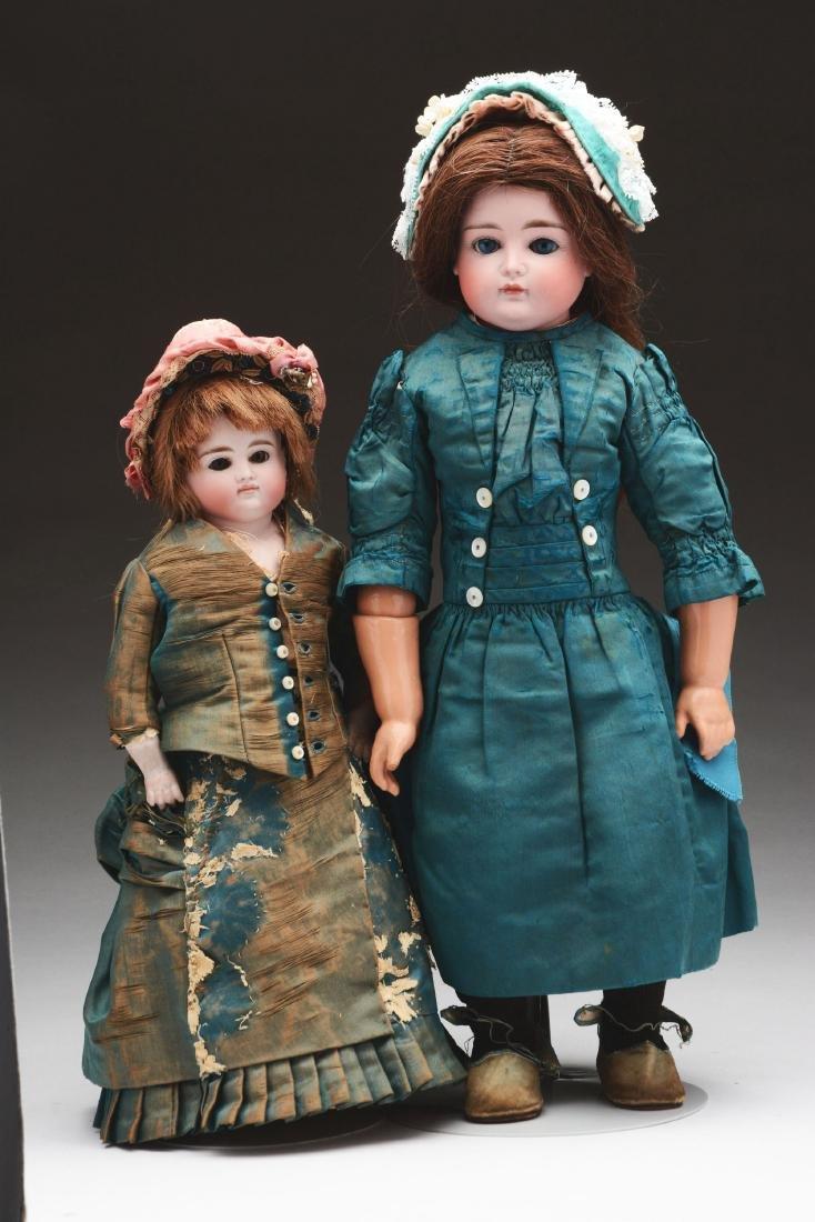 Lot of 2: Closed Mouth Kestner Child Dolls.