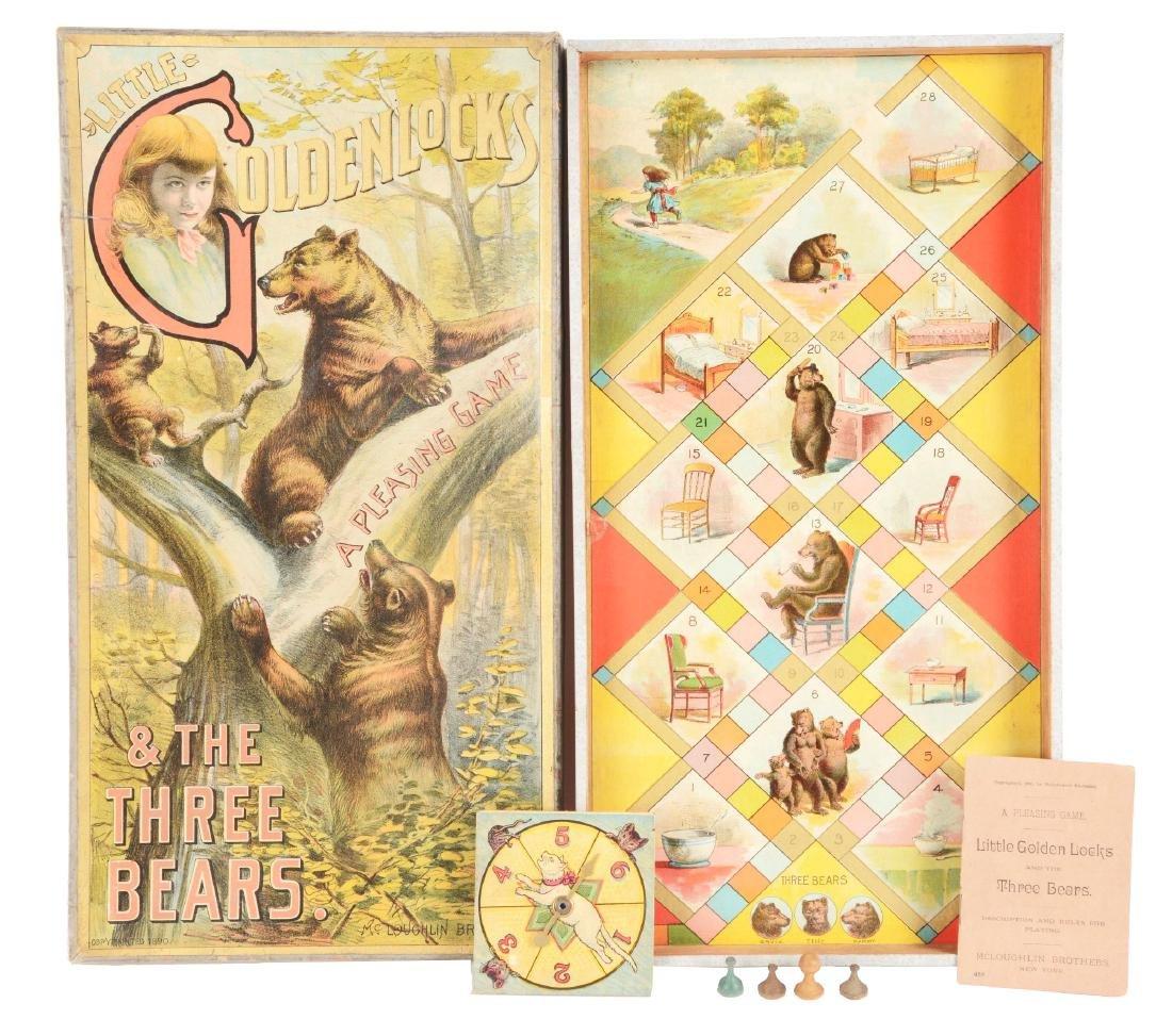 Early McLoughlin Bros. Little Golden Locks & Three