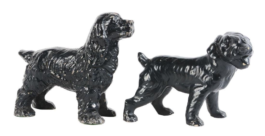 Lot of 2: Cast Iron Assorted Dog Doorstops.