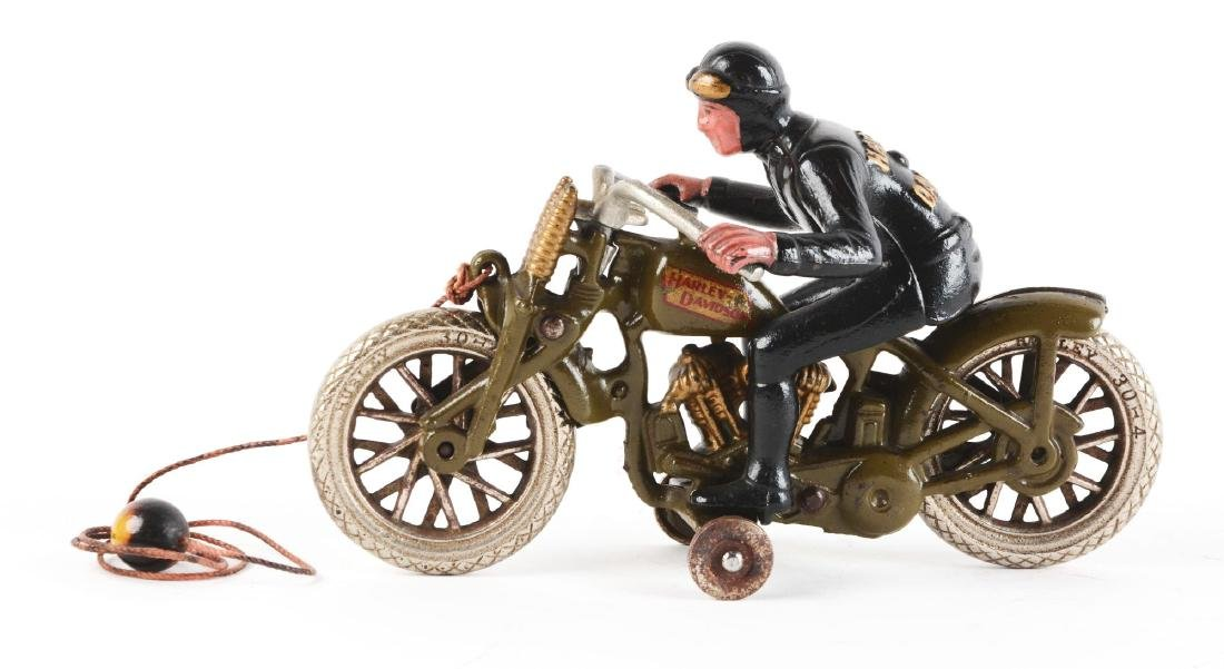 Cast Iron Hill Climber Motorcycle. - 2