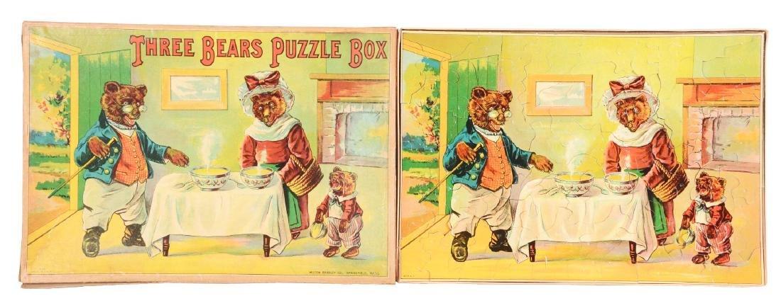 Early Milton Bradley Three Bears Puzzle Box.