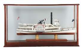 Marthas Vineyard Paddle Boat Model Ship