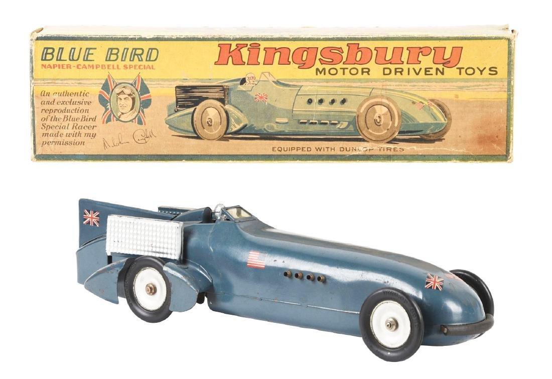 Pressed Steel Kingsbury Blue Bird Race Car with