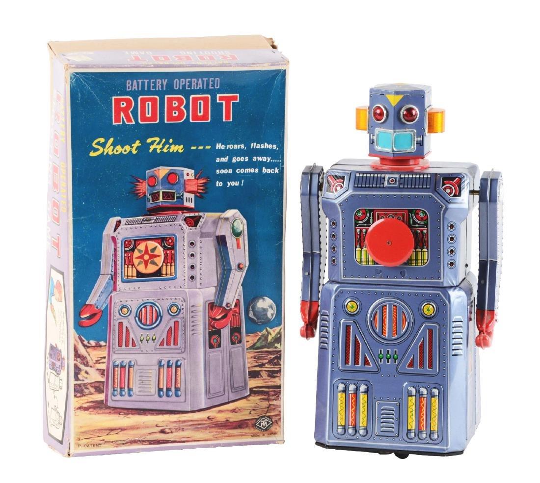 Japanese Tin Litho Gang of 5 Target Robot.