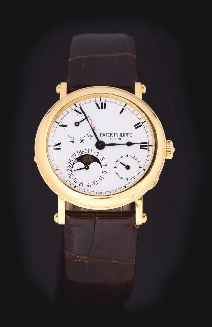 Patek Philippe 18k Yellow Gold Power Reserve Moonphase