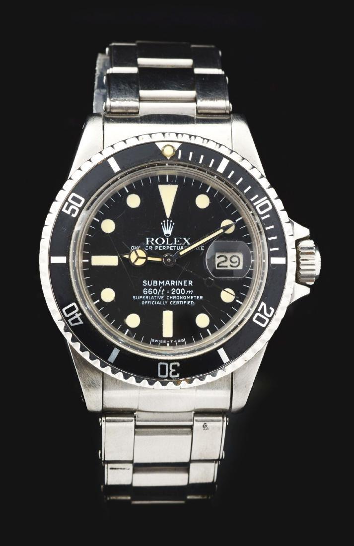 Vintage Rolex Stainless Steel Submariner Wristwatch