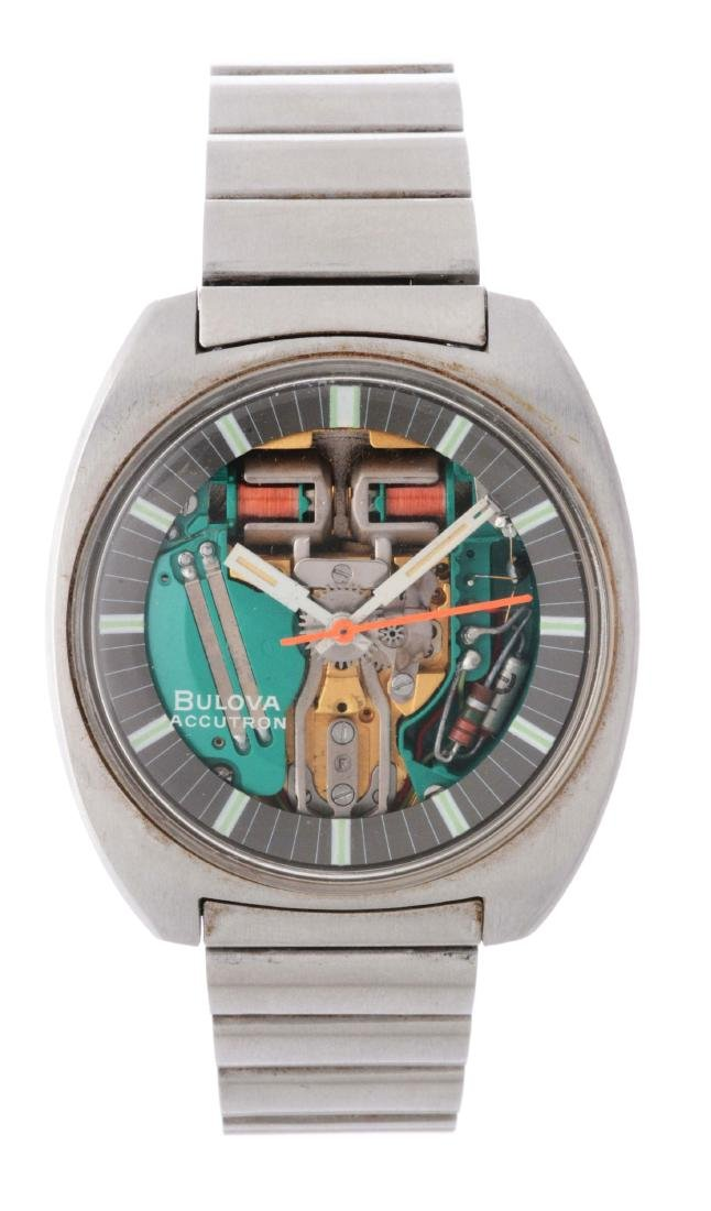 Vintage Bulova Accutron Stainless Steel Spaceview