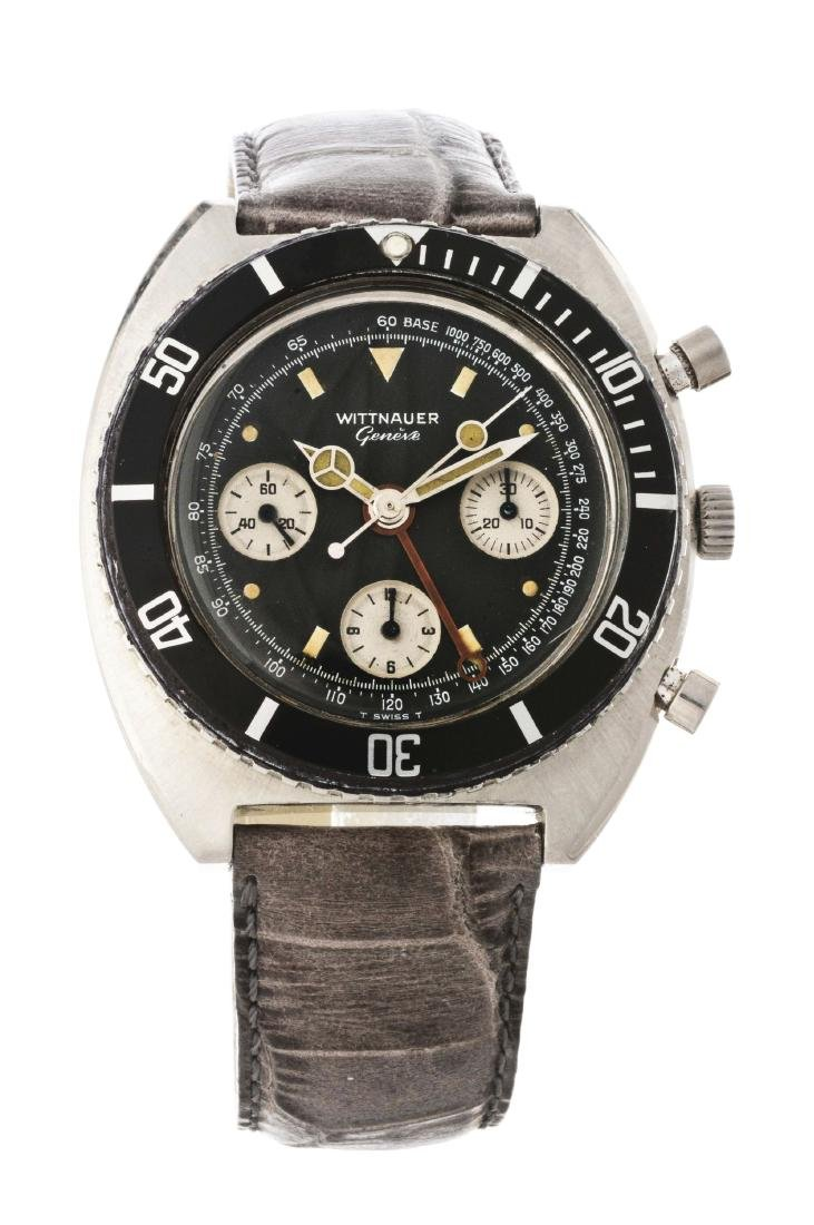 "Vintage Wittnauer Geneve ""Panda"" Stainless Steel"