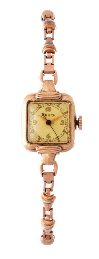Vintage Gruen Gold Filled Ladies Wristwatch.