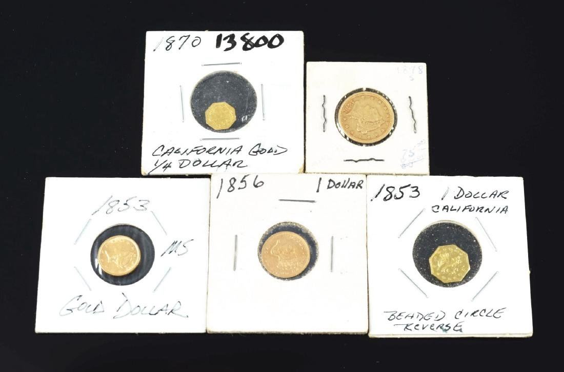 Lot Of 5: U.S.A. Gold Coins.