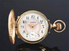 Waltham for Anna L. Silveira 14K Gold H/C Pocket Watch