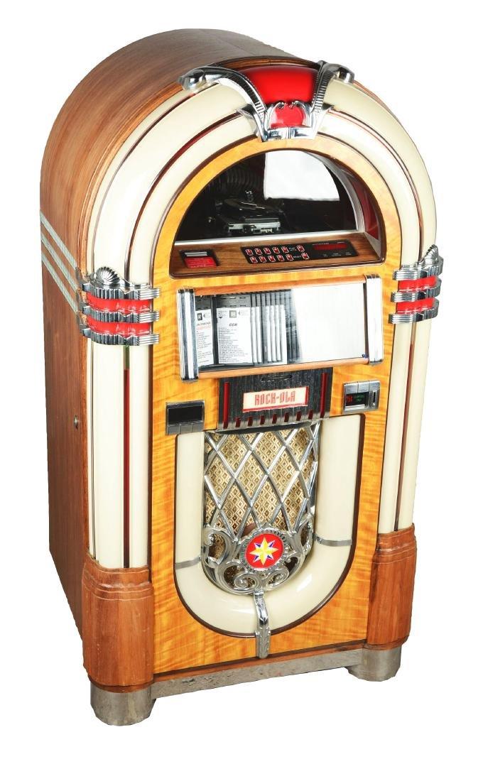 "25¢ Rock-Ola The ""Bubbler"" Jukebox."